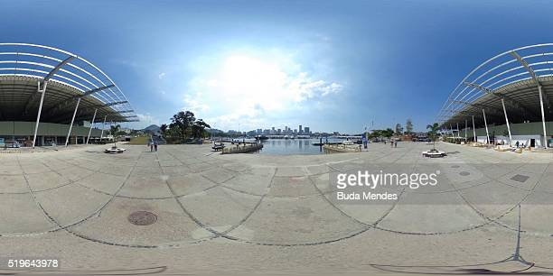 General view of the newly renovated Marina da Gloria which will host the sailing competitions of the Rio 2016 Olympic Games on April 7 2016 in Rio de...