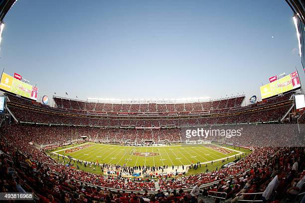 General view of the NFL game between the San Francisco 49ers and the Seattle Seahawks at Levi's Stadium on October 22, 2015 in Santa Clara,...