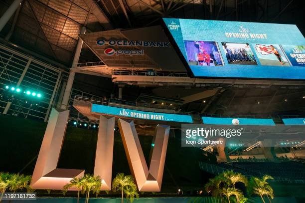 General view of the NFL Super Bowl Opening Night at Marlins Park in Miami Fla on January 27 2020