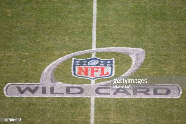 General view of the NFL Wild Card logo prior to the game between the Seattle Seahawks and Philadelphia Eagles at Lincoln Financial Field on January...