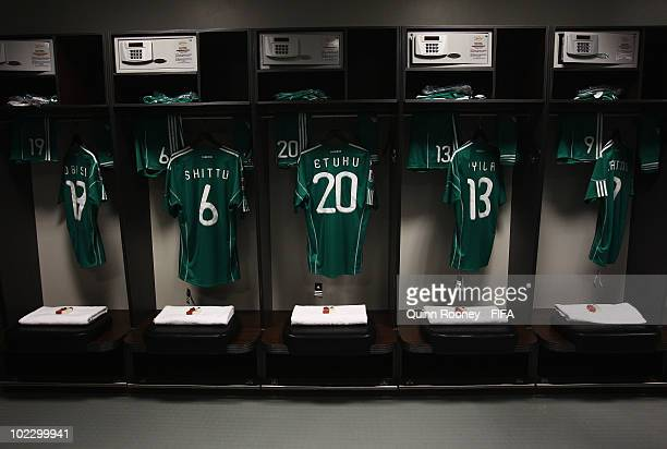 19b41e061 A general view of the Nigeria dressing room prior to the 2010 FIFA World  Cup South