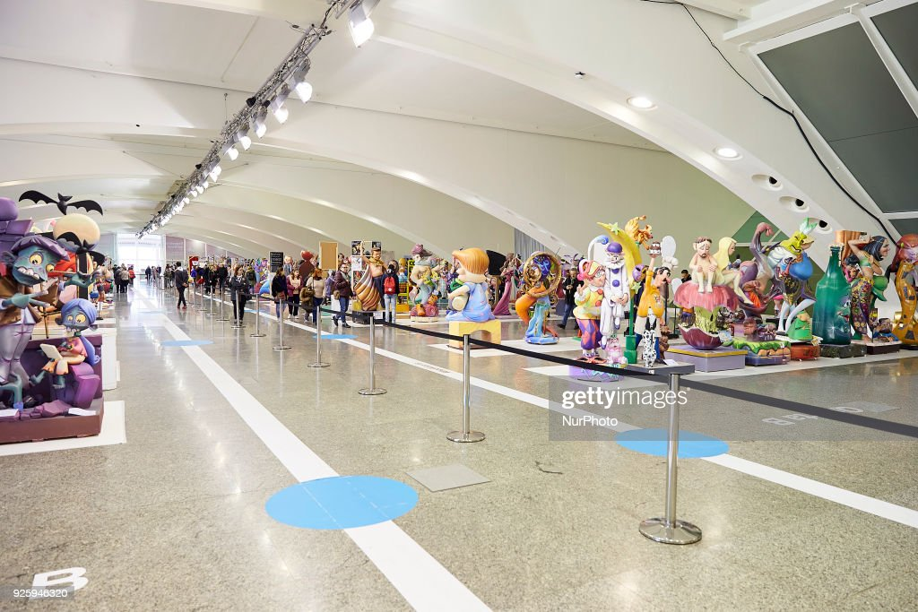 General view of the 'ninots' during the Ninot exhibition ahead of Las Fallas Festival at Museo de Las Ciencias Principe Felipe on March 1, 2018 in Valencia, Spain. The Fallas is Valencias most international festival, which runs from March 15 until March 19 and celebrates the arrival of spring with fireworks, fiestas and bonfires made by large puppets named Ninots. During the months preceding this unique festivity, a lot of hard work and dedication is put into preparing the monumental and ephemeral cardboard statues that will be devoured by the flames. The festival has been designated as a UNESCO Intangible Cultural Heritage of Humanity since 2016.