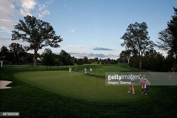 General view of the ninth hole during the first round round of the Webcom Tour Hotel Fitness Championship at Sycamore Hills Golf Club on September 10...