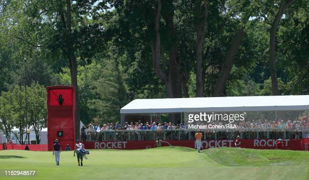 General view of the ninth hole during The Open Qualifying Series, part of the Rocket Mortgage Classic at Detroit Golf Club on June 30, 2019 in...