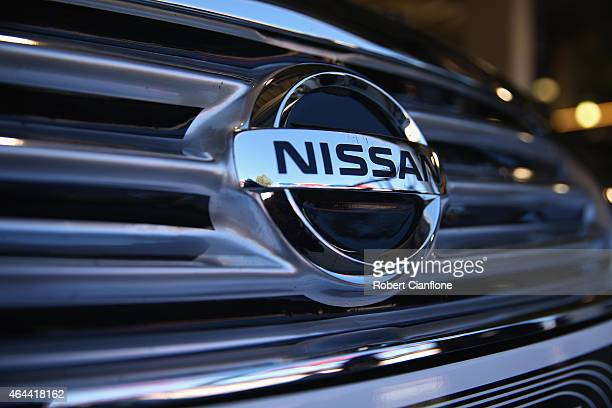 A general view of the Nissan logo ahead of the V8 Supercars Clipsal 500 at Adelaide Street Circuit on February 26 2015 in Adelaide Australia