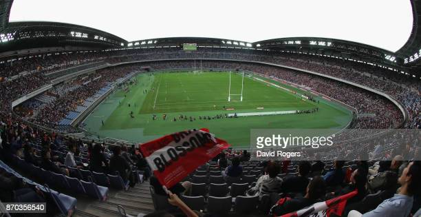 A general view of the Nissan Stadium during the rugby union international match between Japan and Australia Wallabies at Nissan Stadium on November 4...