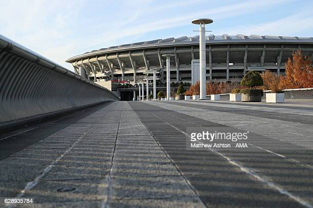 A general view of the Nissan Stadium home of Yokohama Marinos and venue for the FIFA Club World Cup ahead of the FIFA Club World Cup Playoff for...