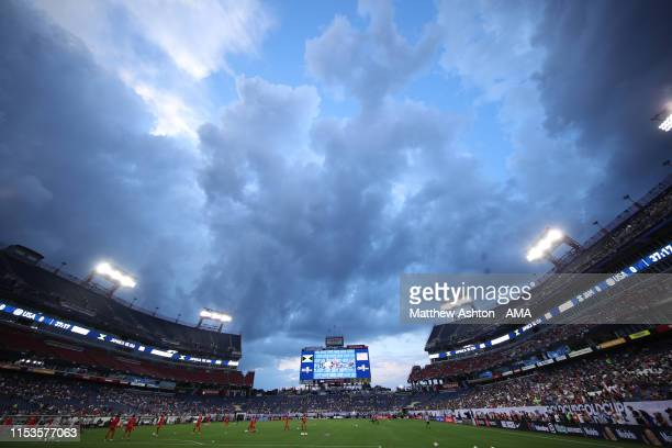 A general view of the Nissan Stadium home stadium of the Tennessee Titans and the Tennessee State Tigers during the 2019 CONCACAF Gold Cup Semi Final...