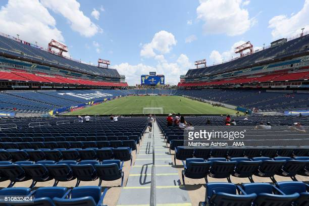 General View of the Nissan Stadium prior to the 2017 CONCACAF Gold Cup Group B match between the United States and Panama at Nissan Stadium on July...