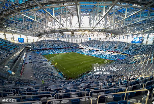 General view of the Nizhny Novgorod Stadium during the field scouting ahead the match with Argentina as part of groups stage of FIFA World Cup Russia...