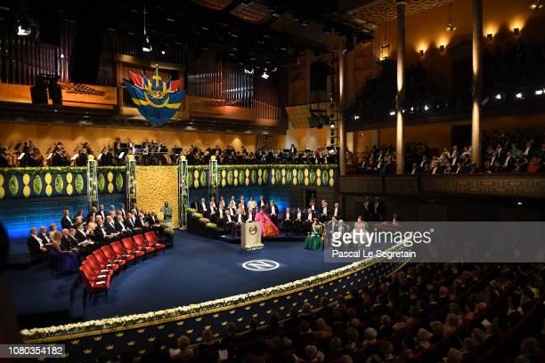 General view of the Nobel Prize Awards Ceremony at Concert Hall on December 10 2018 in Stockholm Sweden