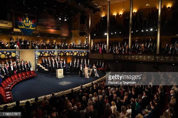 General View of the Nobel Prize Awards Ceremony at Concert Hall on December 10 2019 in Stockholm Sweden