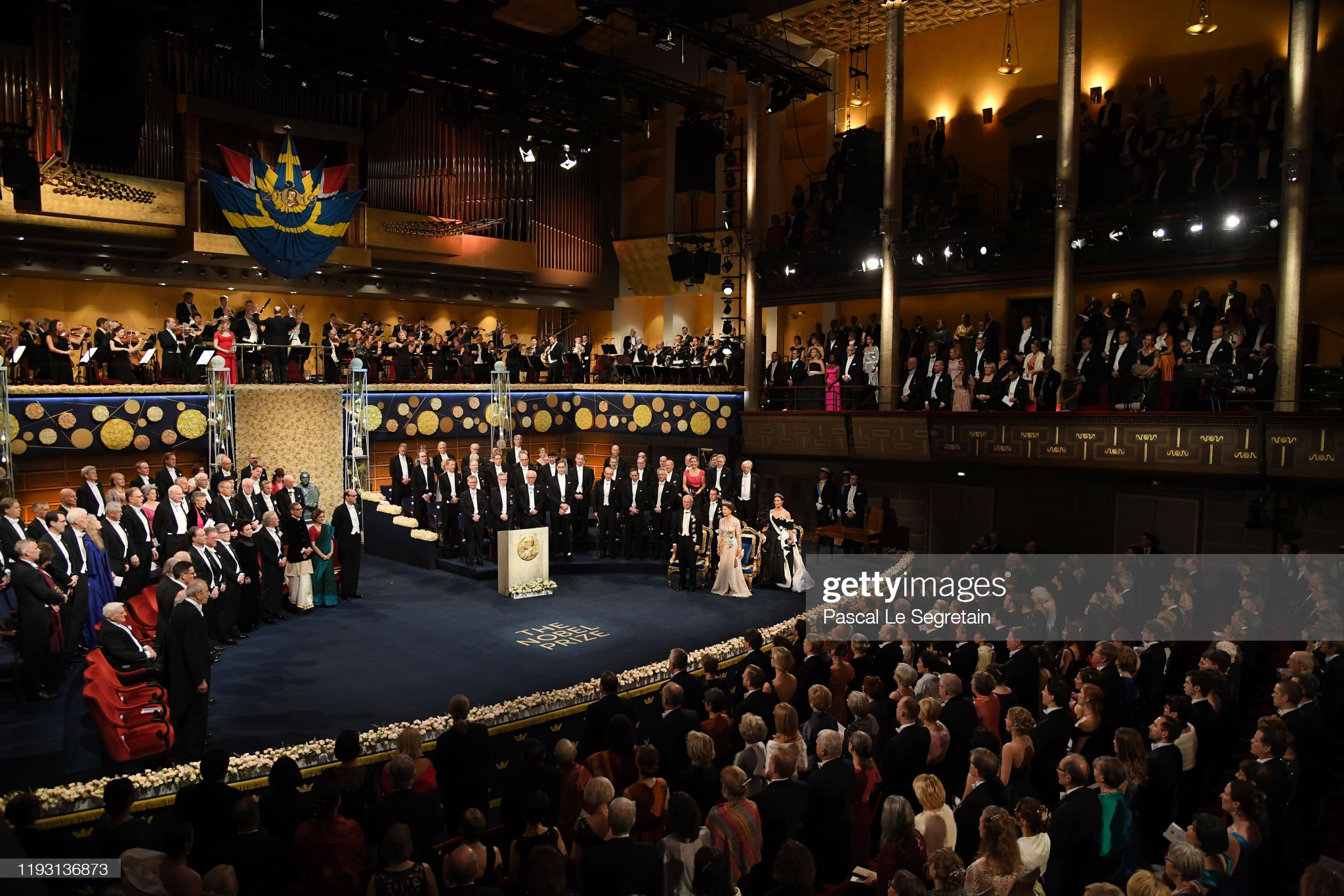 The Nobel Prize Award Ceremony 2019 : News Photo