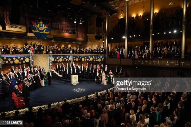 General View of the Nobel Prize Awards Ceremony at Concert Hall on December 10, 2019 in Stockholm, Sweden.