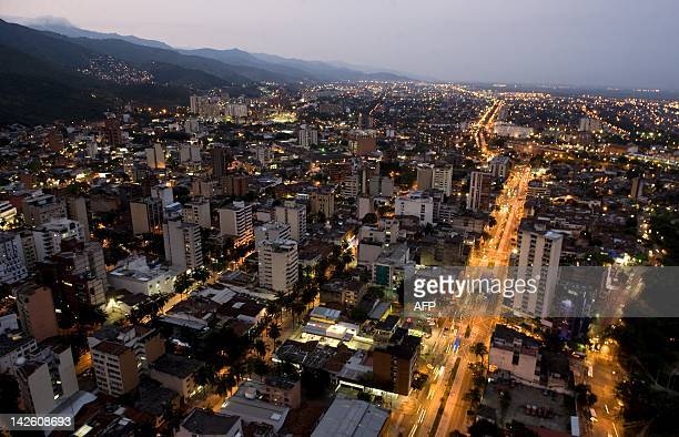 General view of the northeast of Cali Valle del Cauca department southwest Colombia on March 28 2012 Cali the third most important city of Colombia...