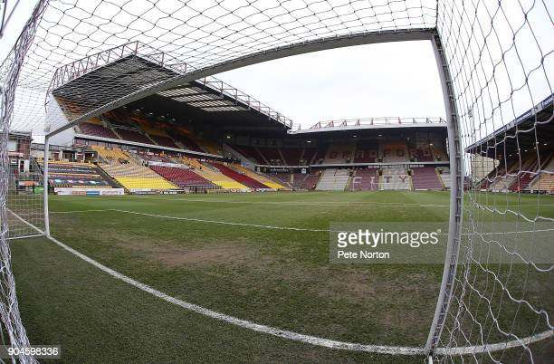 General View of the Northern Commercials Stadium prior to the Sky Bet League One match between Bradford City and Northampton Town at Northern...