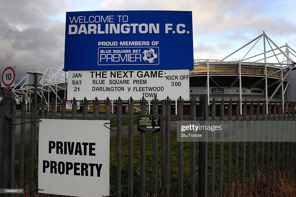 A general view of the Northern Echo Darlington Arena, home of Darlington FC who face a fight for survival on January 10, 2012 in Darlington, England.