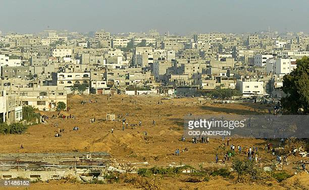 A general view of the northern Gaza Strip refugee camp of