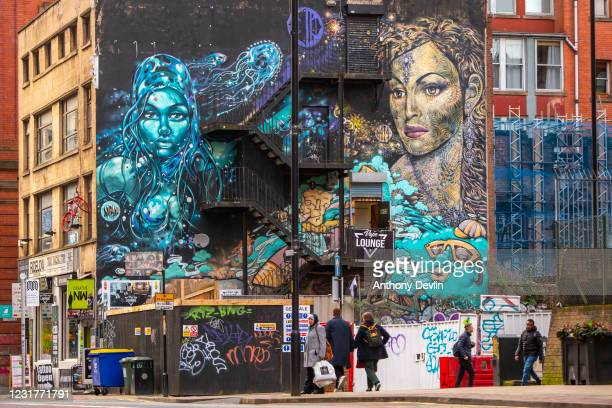 General view of the Northern Quarter in Manchester city centre on March 19, 2020 in Manchester, England.