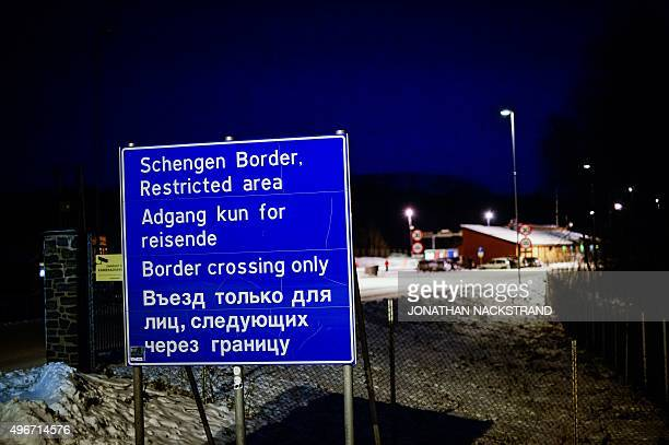 A general view of the Norwegian border crossing station at Storskog on November 11 2015 near the town of Kirkenes in northern Norway An increasingly...