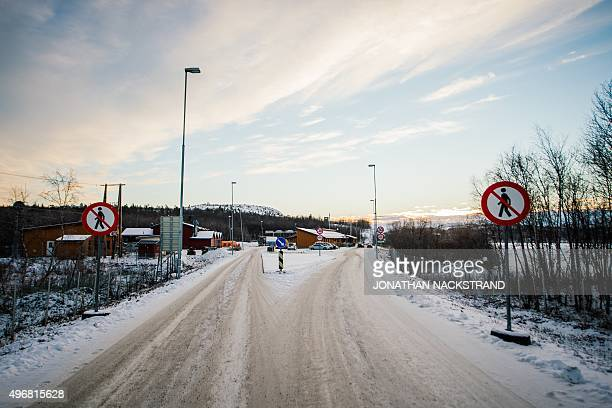A general view of the Norwegian border crossing station at Storskog on November 12 2015 near the town of Kirkenes in northern Norway An increasingly...