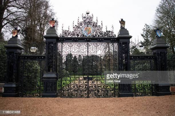 General view of the Norwich Gates on the Sandringham Estate as Prince Harry, Duke of Sussex meets with Queen Elizabeth II, Prince Charles, Prince of...