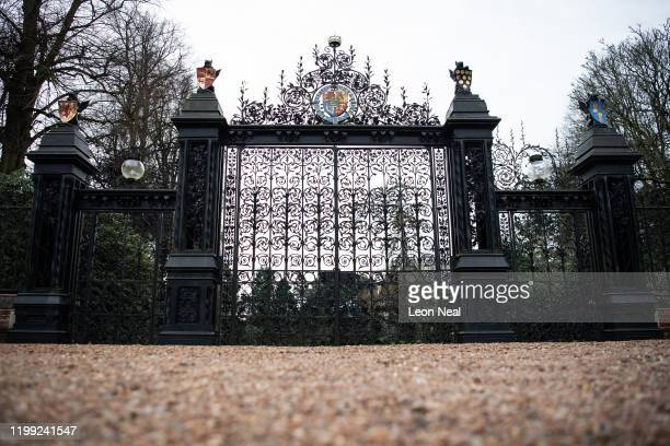 A general view of the Norwich Gates on the Sandringham Estate as Prince Harry Duke of Sussex meets with Queen Elizabeth II Prince Charles Prince of...