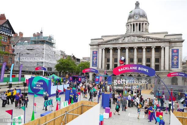 General view of the Nottingham fanzone during the ICC Cricket World Cup 2019 at Old Market Square on May 31, 2019 in Nottingham, England.