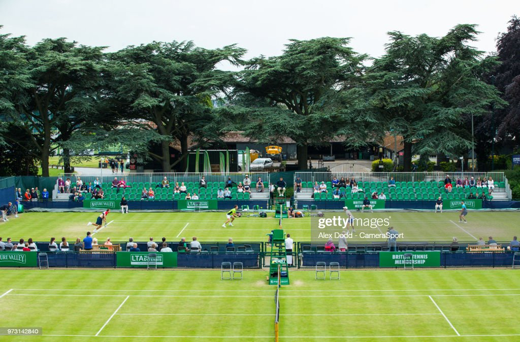 A general view of the Nottingham Tennis Centre during day 3 of the Nature Valley Open Tennis Tournament at Nottingham Tennis Centre on June 13, 2018 in Nottingham, England.