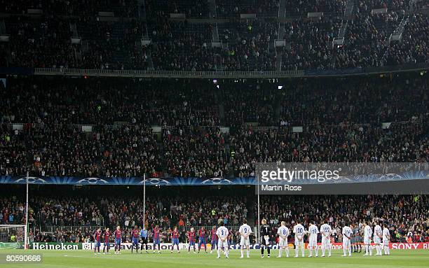 General View of the Nou Camp stadium prior the UEFA Champions League quarter final second leg match between FC Barcelona and FC Schalke 04 at the Nou...