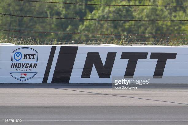 A general view of the NTT Indy Car logo during the IndyCar Series ABC Supply 500 on August 18 2019 at Pocono Raceway in Long Pond Pa