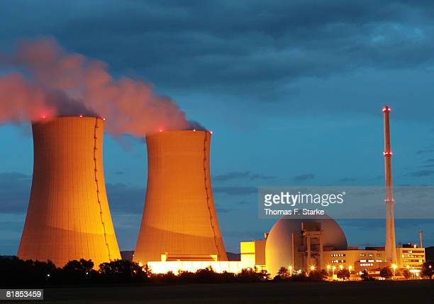 A general view of the nuclear power plant Grohnde on July 7 2008 in Grohnde near Hameln Germany Differences over nuclear power surfaced on the...