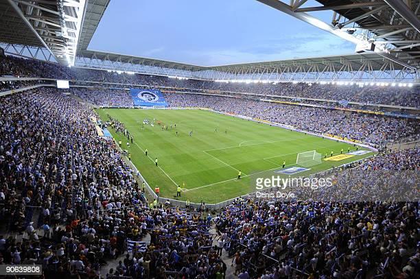 General view of the Nuevo Estadio de CornellaEl Prat stadium before the La Liga match between Espanyol and Real Madrid at the Nuevo Estadio de...