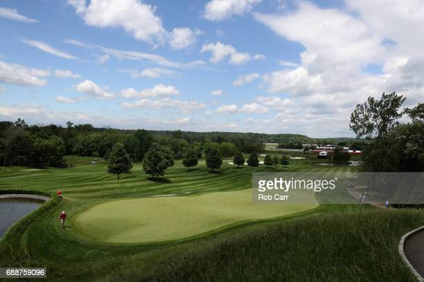 A general view of the number one gree during Round 2 of the Senior PGA Championship at Trump National Golf Club on May 26 2017 in Sterling Virginia