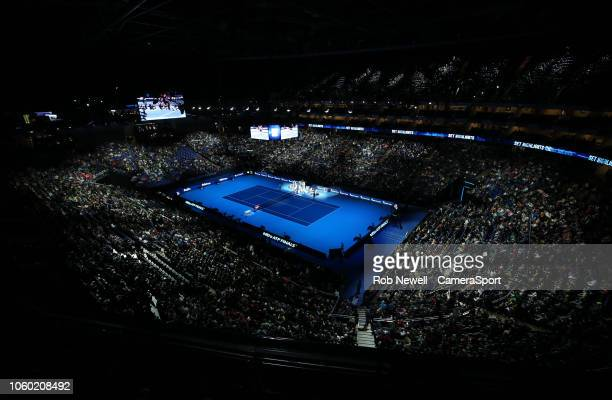 A general view of the O2 Arena during Day One of the Nitto ATP Finals at The O2 Arena on November 11 2018 in London England