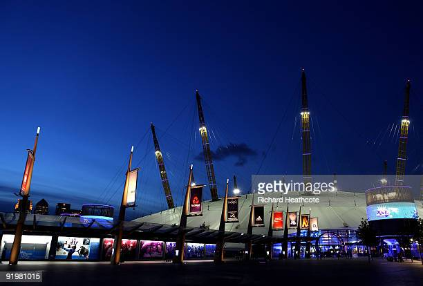 A general view of the O2 Arena during the Apparatus Finals on the sixth day of the Artistic Gymnastics World Championships 2009 at the at O2 Arena on...