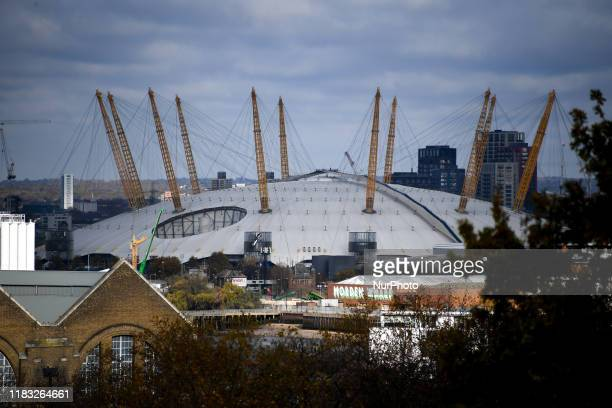 General view of the O2 Arena in London on November 18, 2019.
