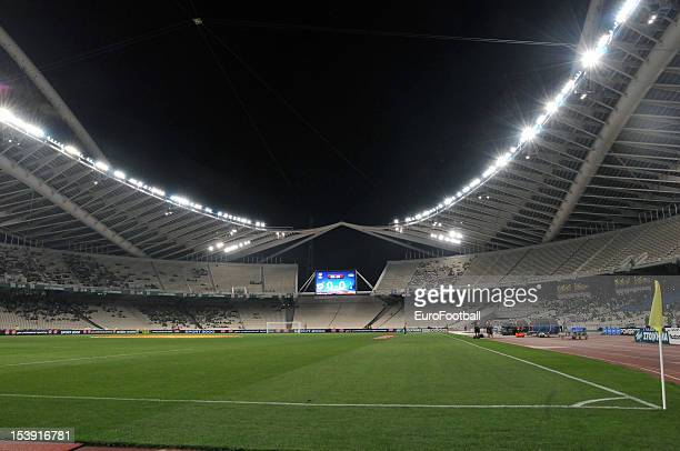General view of the OAKA Spiros Louis Stadium home of Panathinaikos FC taken during the UEFA Europa League group stage match between Panathinaikos FC...