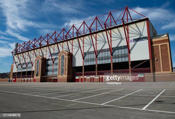 A general view of The Oakwell Stadium home of Barnsley Football Club on March 23 2020 in Barnsley England