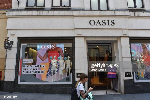 A general view of the Oasis fashion retail outlet in Argyll Street on May 13 2019 in London England
