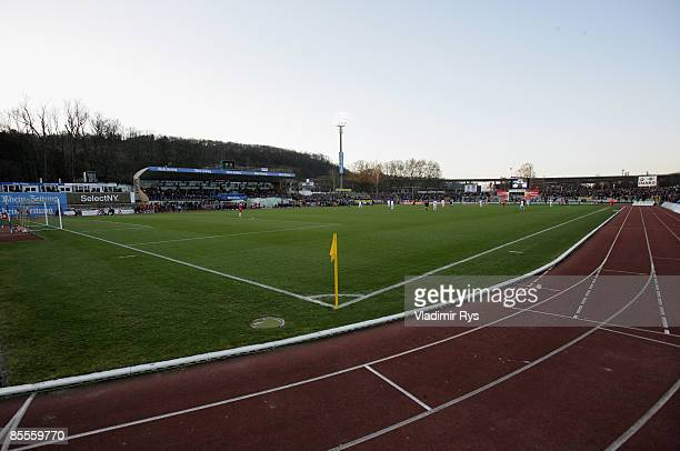 General view of the Oberwerth stadium is seen during the second Bundesliga match at the Oberwerth stadium on March 20 2009 in Koblenz Germany