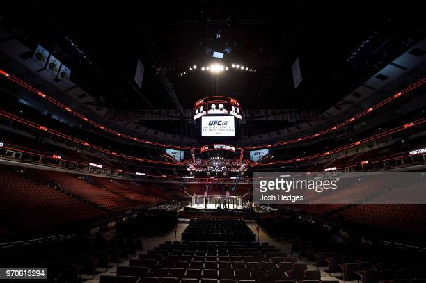 A general view of the Octagon during the UFC 225 event at the United Center on June 9 2018 in Chicago Illinois