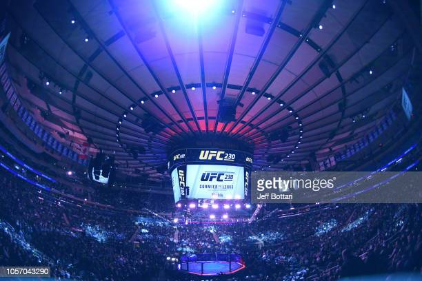 General view of the Octagon during the UFC 230 event inside Madison Square Garden on November 3, 2018 in New York, New York.