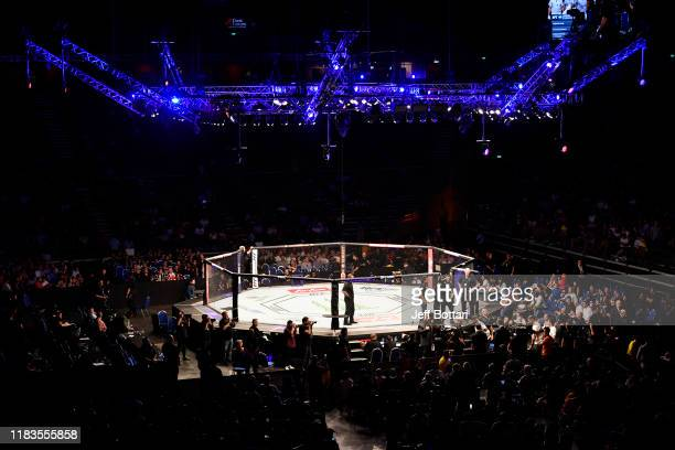 General view of the Octagon during the UFC Fight Night event at Singapore Indoor Stadium on October 26, 2019 in Singapore.