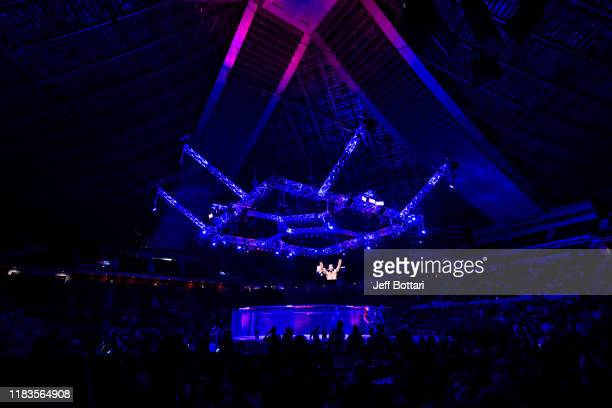 A general view of the Octagon during the UFC Fight Night event at Singapore Indoor Stadium on October 26 2019 in Singapore
