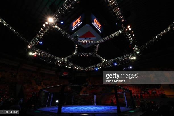 A general view of the Octagon during the UFC Fight Night event at Mangueirinho Arena on February 03 2018 in Belem Brazil