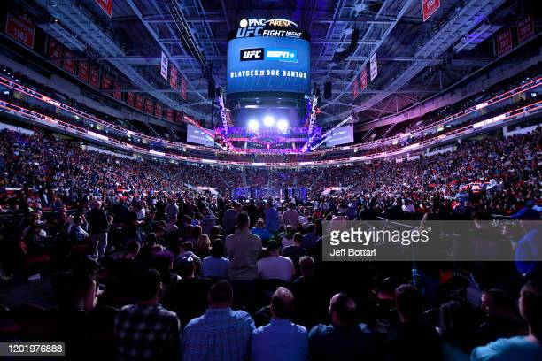 A general view of the Octagon during the UFC Fight Night event at PNC Arena on January 25 2020 in Raleigh North Carolina