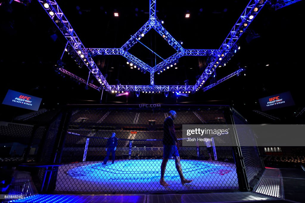A general view of the Octagon prior to the start of UFC Fight Night event at the Rotterdam Ahoy on September 2, 2017 in Rotterdam, Netherlands.