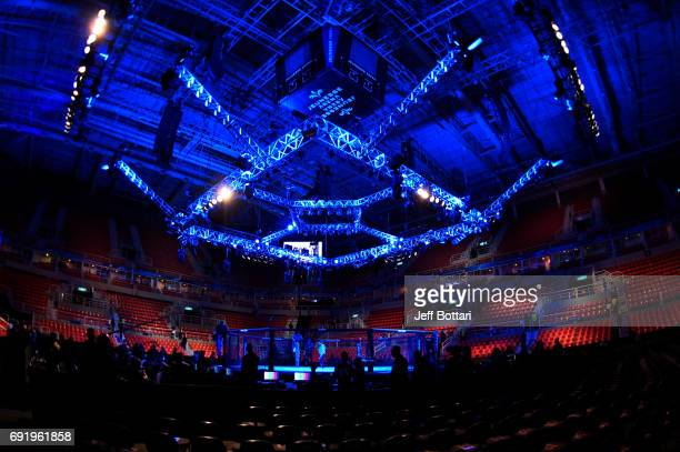 A general view of the Octagon prior to the UFC 212 event at Jeunesse Arena on June 3 2017 in Rio de Janeiro Brazil