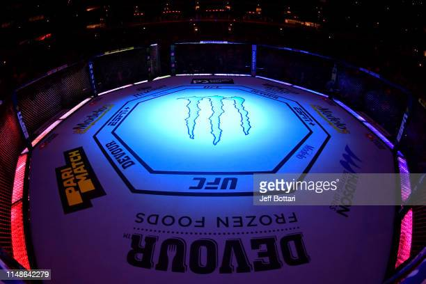 A general view of the Octagon prior to the UFC 238 event at the United Center on June 8 2019 in Chicago Illinois